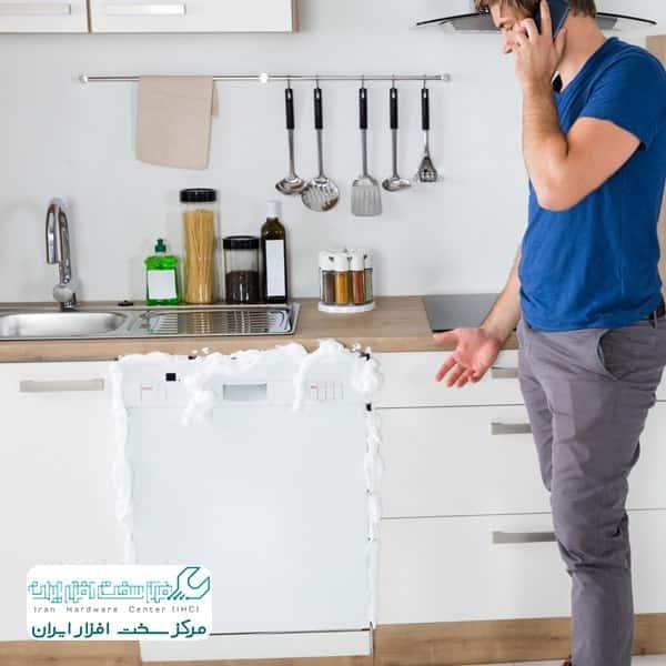 آبگیری نکردن ماشین ظرفشویی سامسونگ